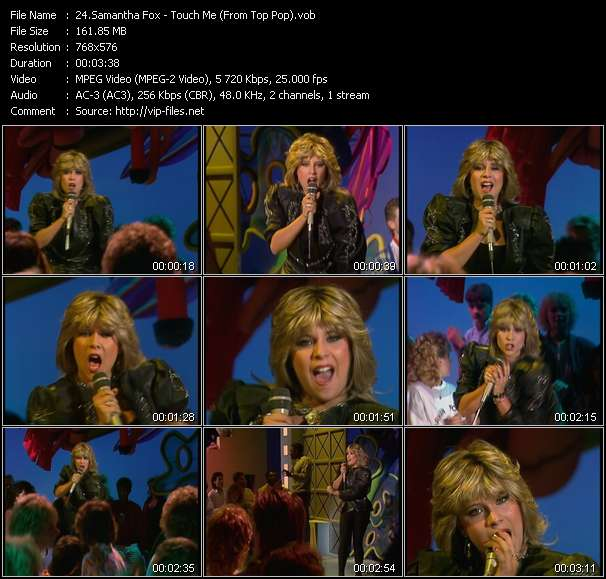 Screenshot of Video Song: «Touch Me» of Samantha Fox