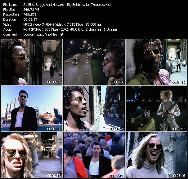 Screenshot of Video Song: «Big Bubbles, No Troubles» of Ellis, Beggs And Howard