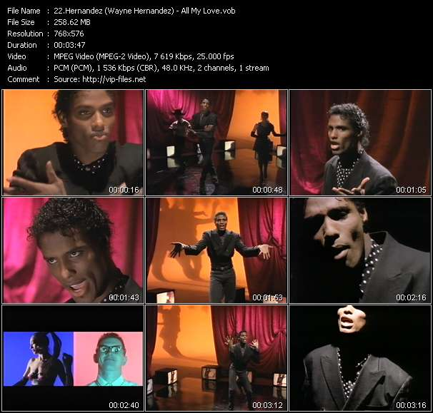 Screenshot of Video Song: «All My Love» of Hernandez, Wayne Hernandez