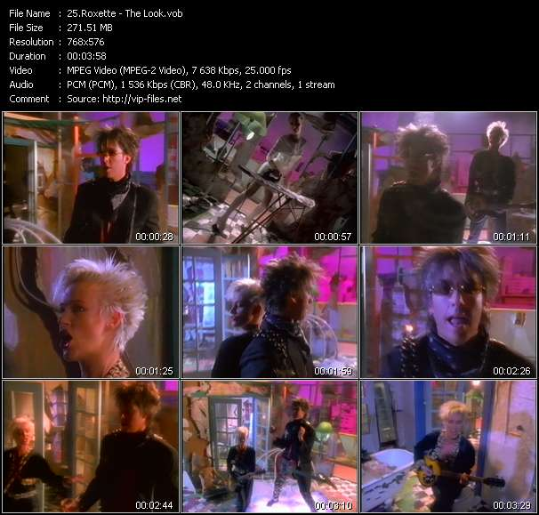 Screenshot of Video Song: «The Look» of Roxette
