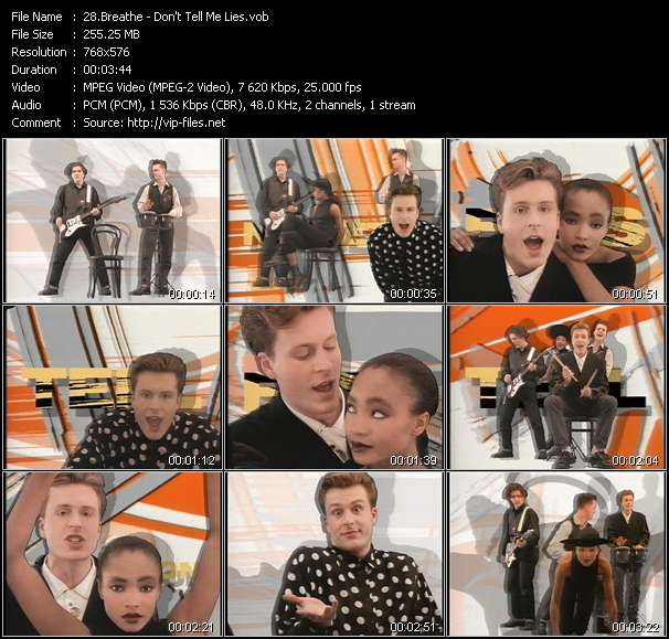 Screenshot of Video Song: «Don't Tell Me Lies» of Breathe