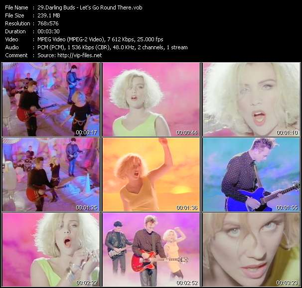 Screenshot of Music Video of Darling Buds - Video Song: «Let's Go Round There»