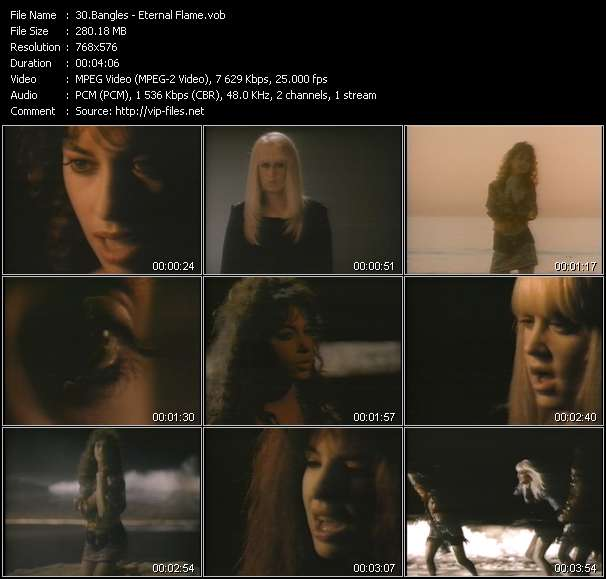 Screenshot of Music Video of Bangles - Video Song: «Eternal Flame»