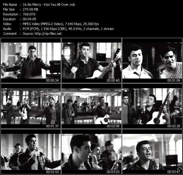 Screenshot of Music Video of No Mercy - Video Song: «Kiss You All Over»