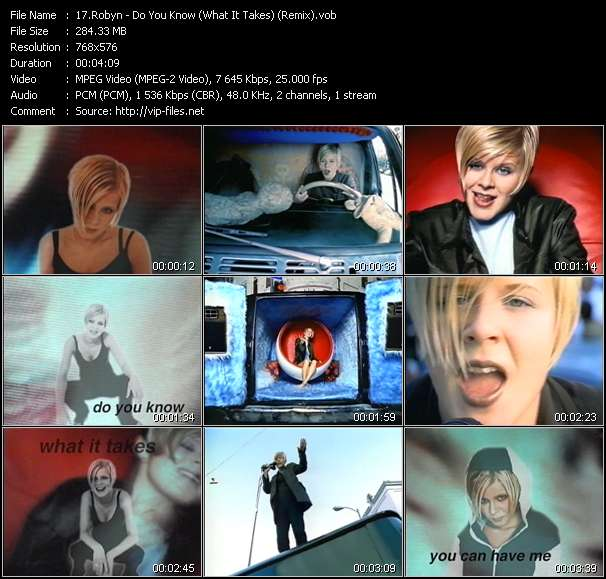 Screenshot of Music Video of Robyn - Video Song: «Do You Know»