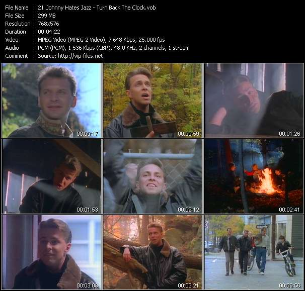 Screenshot of Music Video of Johnny Hates Jazz - Video Song: «Turn Back The Clock»