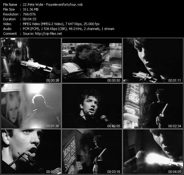 Screenshot of Video Song: «Fourelevenfortyfour» of Pete Wylie
