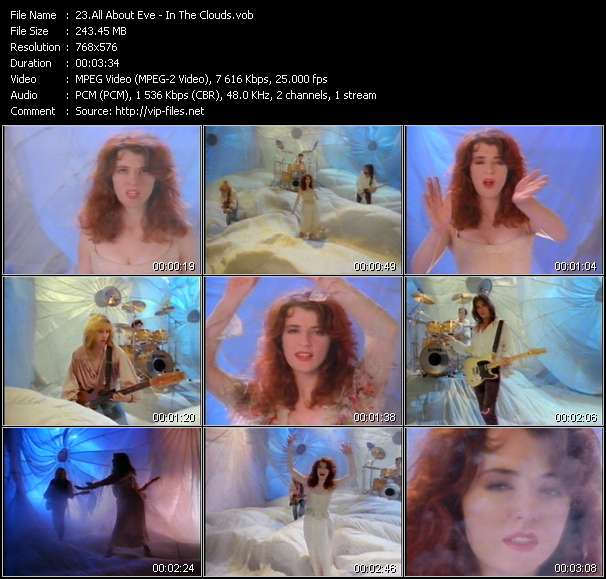 Screenshot of Video Song: «In The Clouds» of All About Eve