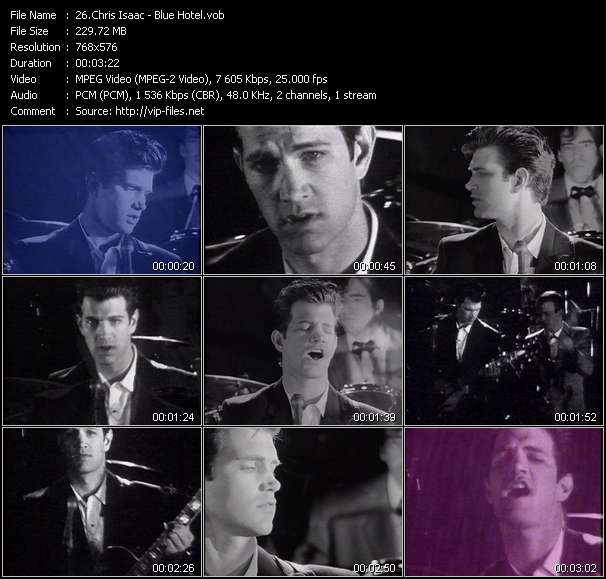 Screenshot of Music Video of Chris Isaac - Video Song: «Blue Hotel»