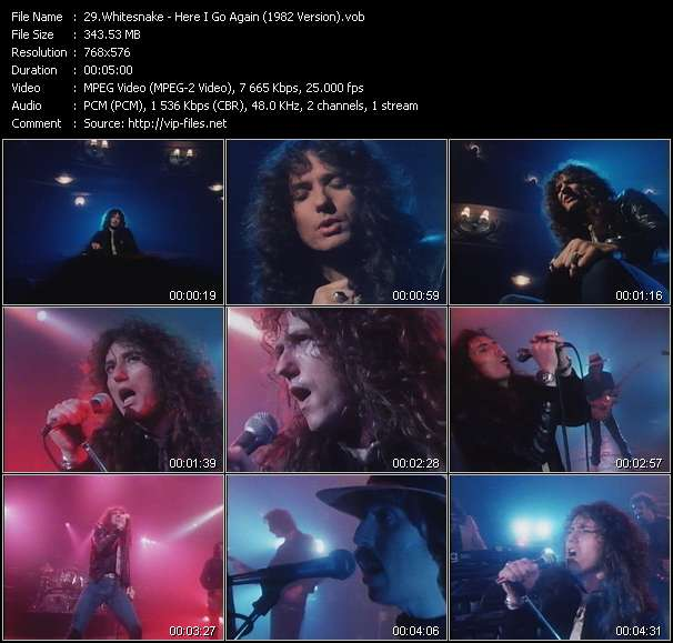Screenshot of Music Video of Whitesnake - Video Song: «Here I Go Again»