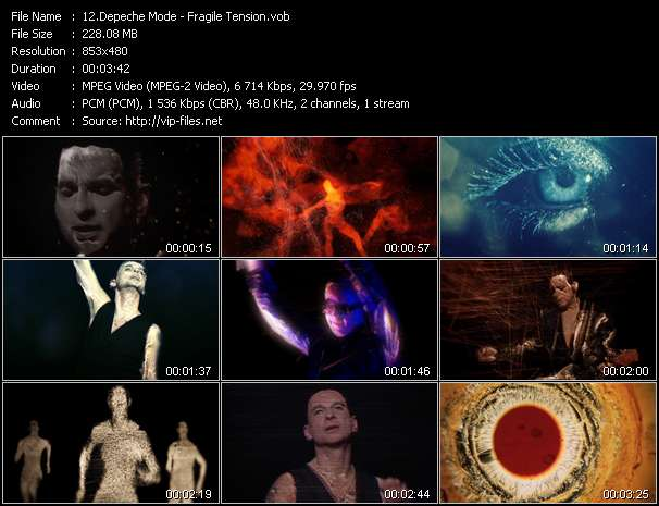 Screenshot of Video Song: «Fragile Tension» of Depeche Mode