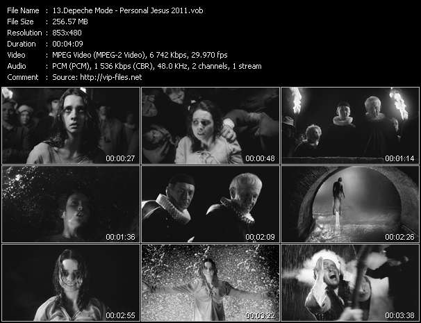 Screenshot of Music Video of Depeche Mode - Video Song: «Personal Jesus 2011»