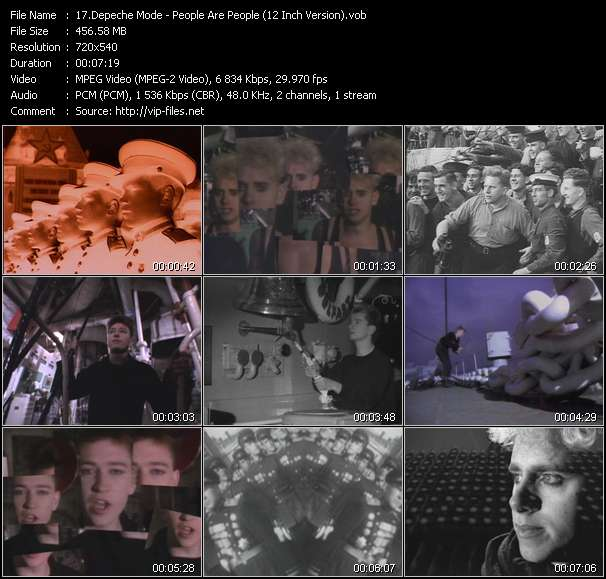 Screenshot of Music Video of Depeche Mode - Video Song: «People Are People»