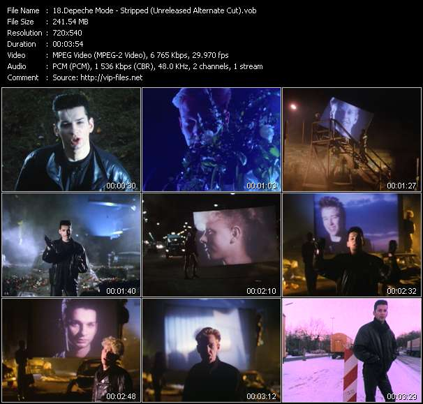 Screenshot of Music Video of Depeche Mode - Video Song: «Stripped»