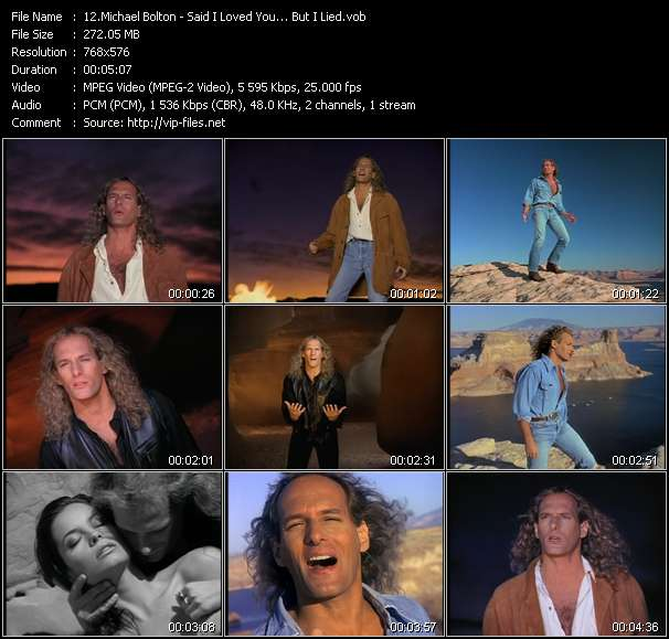 """Michael bolton """"said i loved you. But i lied"""" sheet music in bb."""