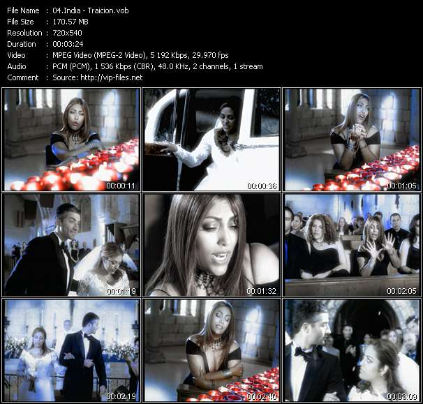 Screenshot of Music Video of India - Video Song: «Traicion»