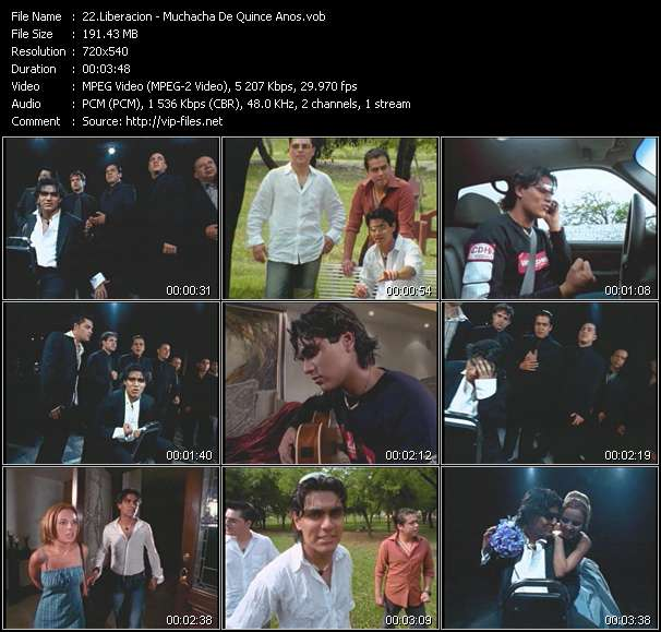 Screenshot of Music Video of Liberacion - Video Song: «Muchacha De Quince Anos»