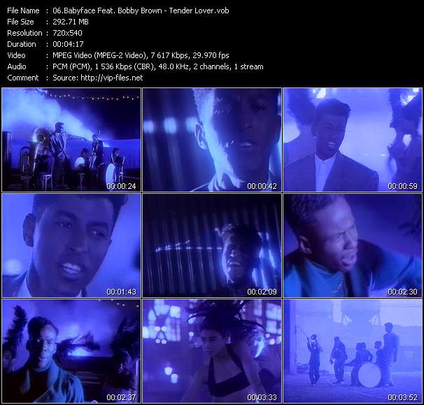 Screenshot of Video Song: «Tender Lover» of Babyface, Bobby Brown