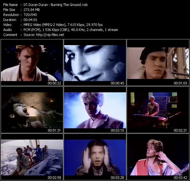 Screenshot of Video Song: «Burning The Ground» of Duran Duran