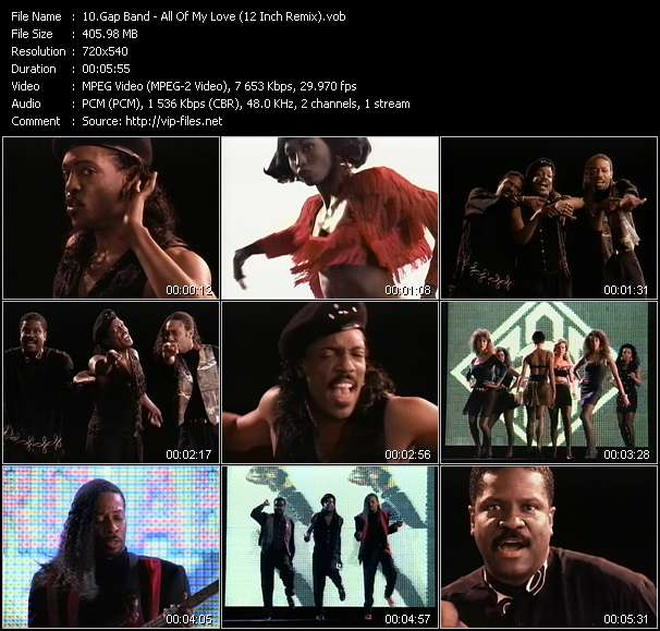 Screenshot of Video Song: «All Of My Love» of Gap Band