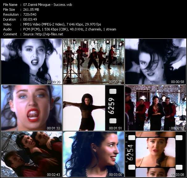 Screenshot of Music Video of Dannii Minogue - Video Song: «Success»
