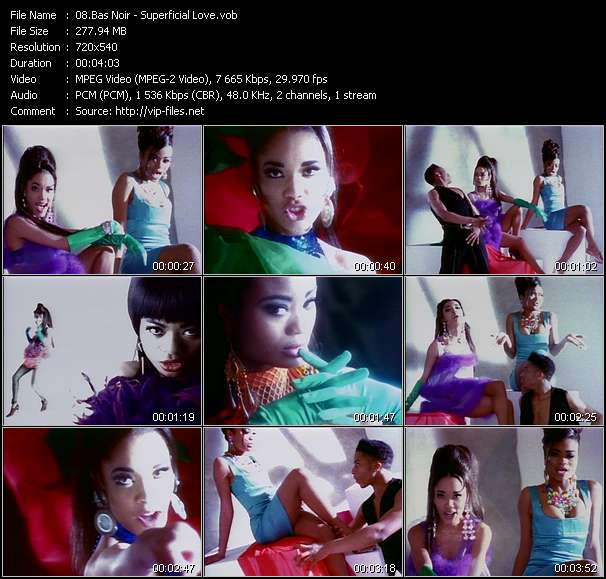 Screenshot of Video Song: «Superficial Love» of Bas Noir