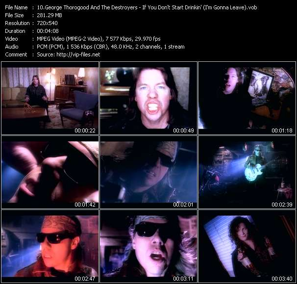 Screenshot of Music Video of George Thorogood - Video Song: «If You Don't Start Drinkin'»