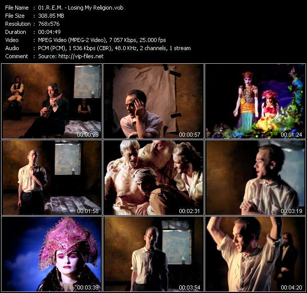 Screenshot of Video Song: «Losing My Religion» of R.E.M.