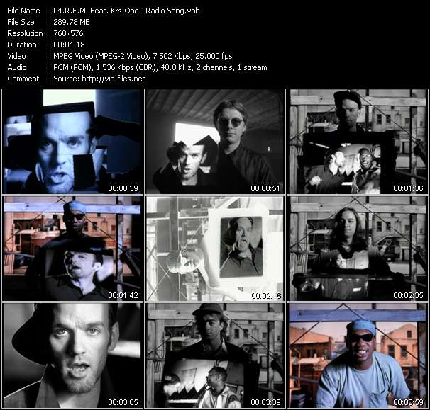 Screenshot of Music Video of R.E.M. - Video Song: «Radio Song»
