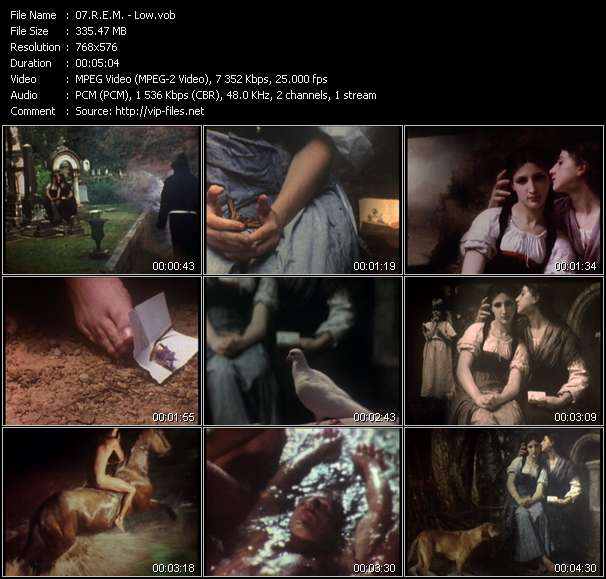 Screenshot of Music Video of R.E.M. - Video Song: «Low»
