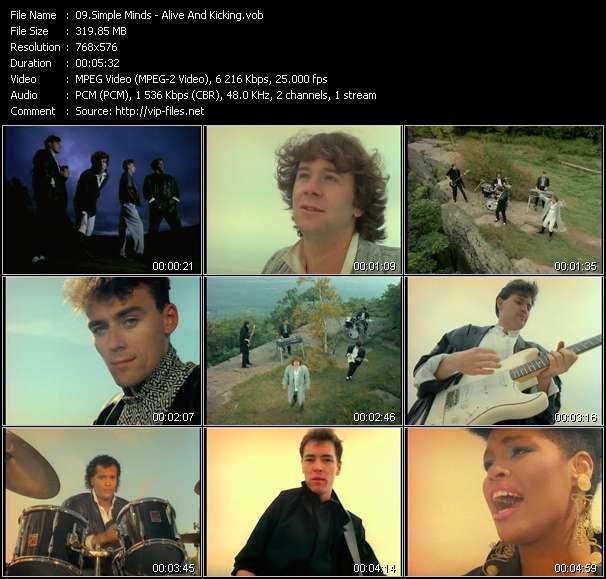 Alive And Kicking - Video Song by Simple Minds Performing Download in HQ