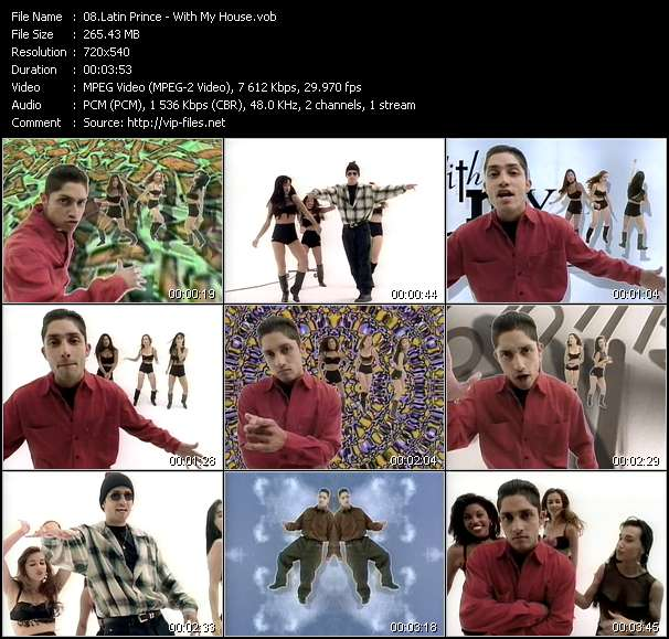 Screenshot of Video Song: «With My House» of Latin Prince