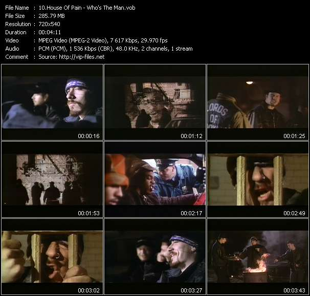 Screenshot of Video Song: «Who's The Man?» of House Of Pain