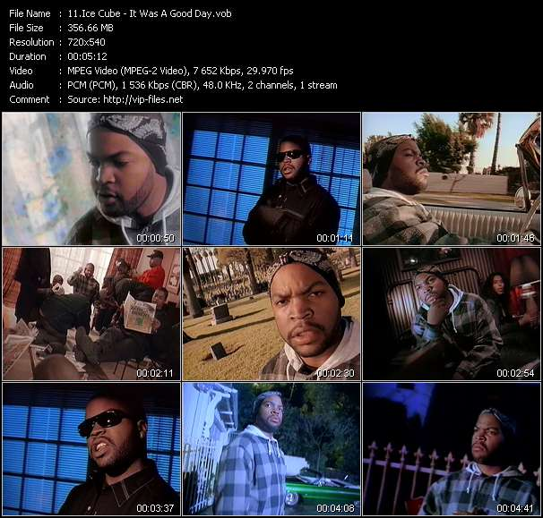 Screenshot of Music Video of Ice Cube - Video Song: «It Was A Good Day»