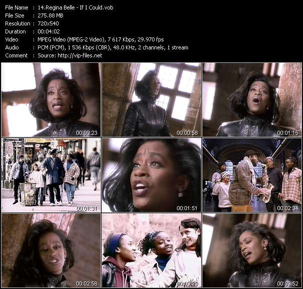 Screenshot of Music Video of Regina Belle - Video Song: «If I Could»