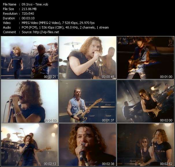 Screenshot of Video Song: «Time» of Inxs