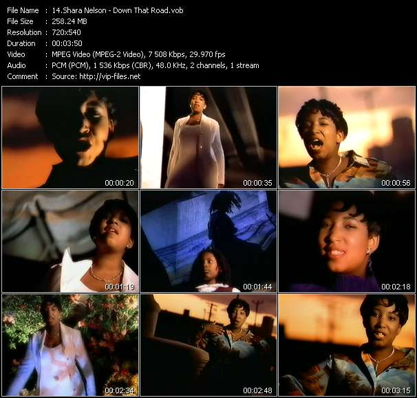Screenshot of Video Song: «Down That Road» of Shara Nelson