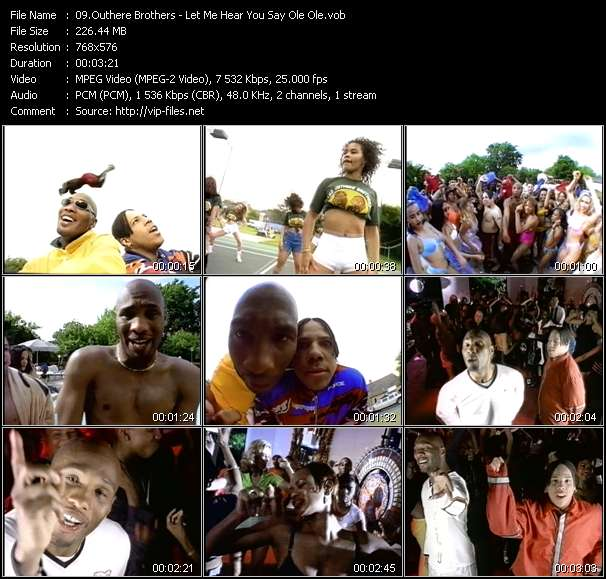 "Screenshot of Music Video of Outhere Brothers - Video Song: «Let Me Hear You Say ""ole Ole""»"