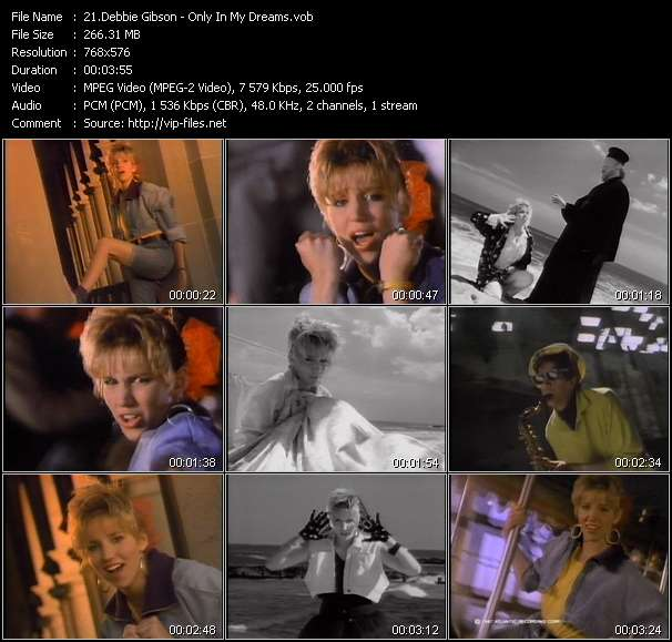 Screenshot of Video Song: «Only In My Dreams» of Debbie Gibson