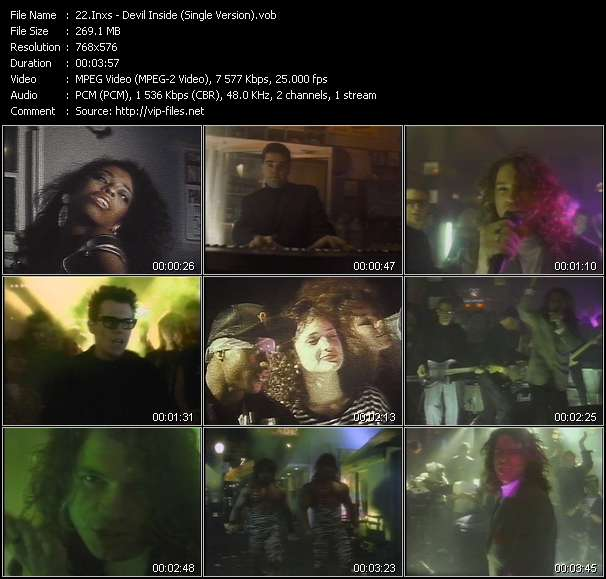 Screenshot of Video Song: «Devil Inside» of Inxs