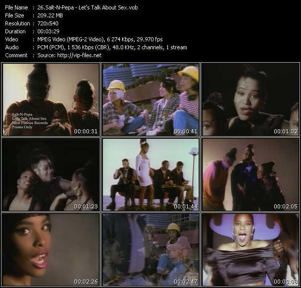 Salt-N-Pepa Music Video Let's Talk About Sex