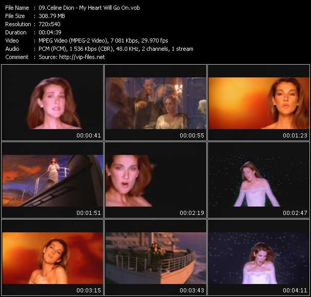 Download Celine Dion My Heart Will Go On: Collection Of HQ-VOB Music