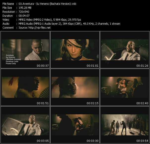 Music Video of Aventura - Hermanita - Download HQ Videoclip(VOB)