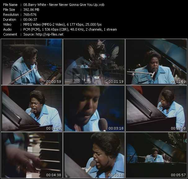 Never Never Gonna Give You Up Video Song By Barry White Performing Download In Hq