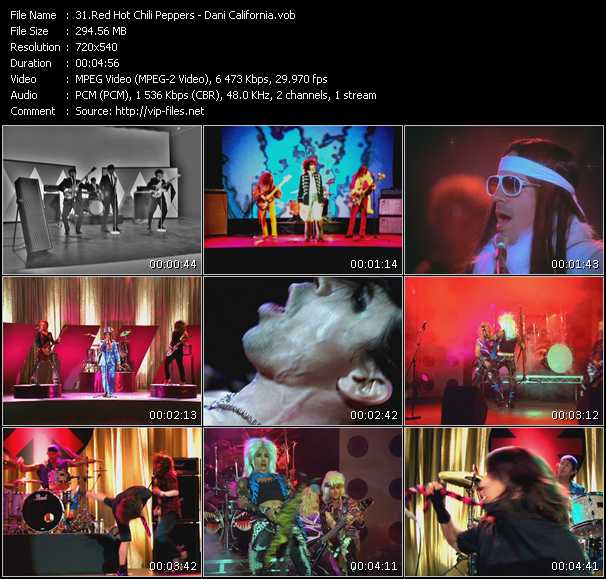 Video Song - Dani California - download in High Quality