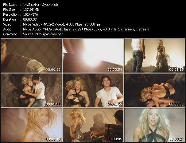 shakira gypsy video download