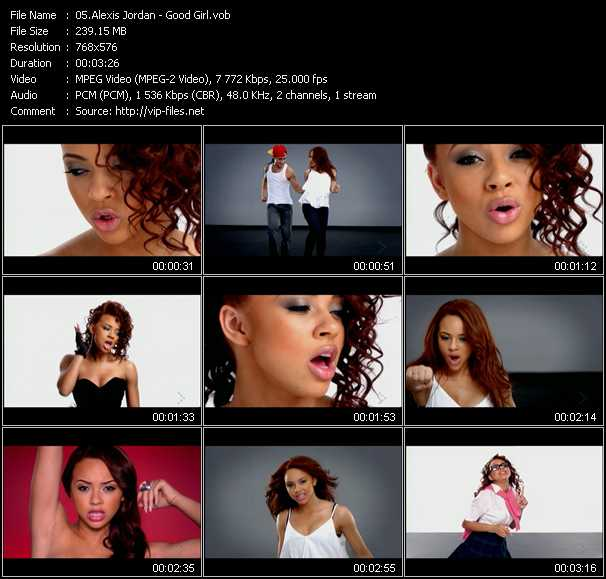 Chicle Lejos Júnior  Good Girl - Video Song by Alexis Jordan Performing Download in HQ