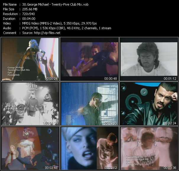 Music Video of George Michael - Monkey - Download HQ Videoclip(VOB)