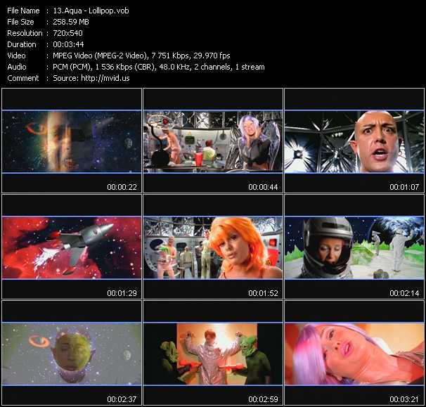 Music Video of Aqua - My Oh My - Download HQ Videoclip(VOB)