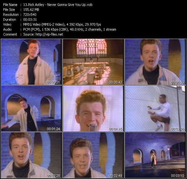 Video Song Never Gonna Give You Up Download In High Quality